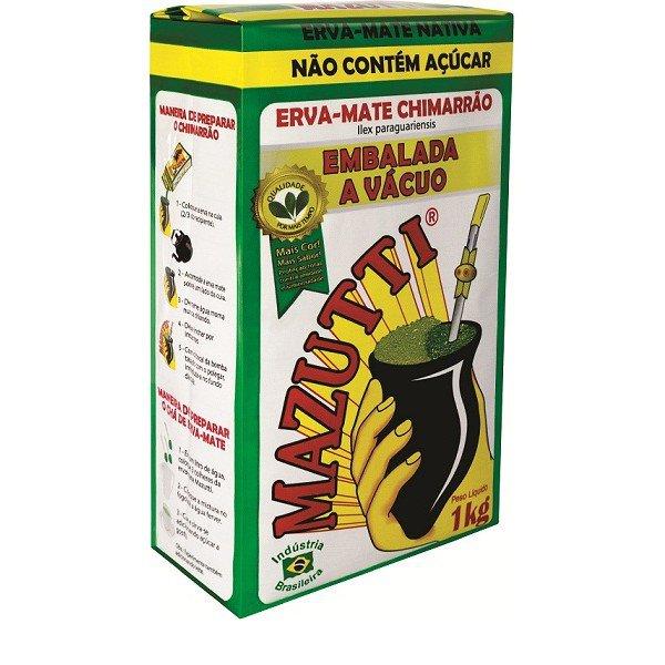 erva mate mazutti tradicional nativa embalada a vacuo 1kg
