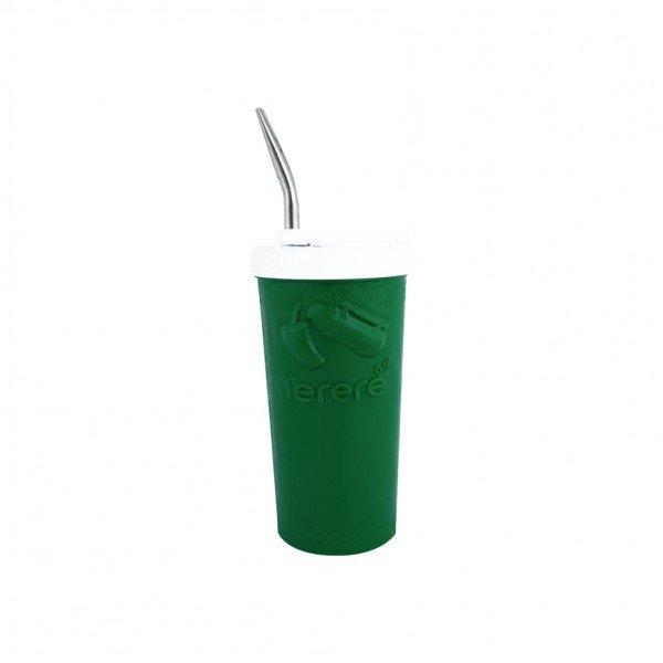 copo termico para terere com bomba pequeno verde