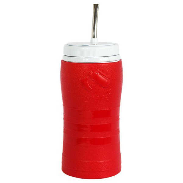 copo termico para terere com bomba grande vermelho
