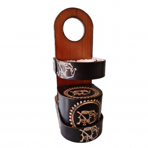 porta chimarrao em couro tradicional 2 l 2