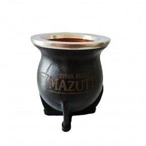 cuia torpedo em ceramica revestida em couro e bocal inox 5